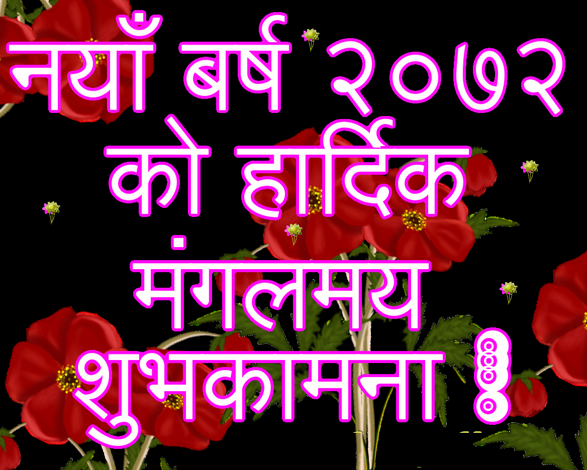 happy new year 2072 cards pink