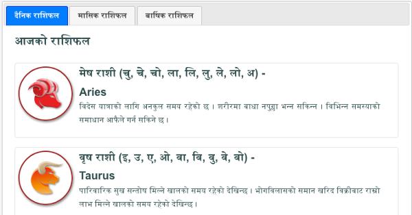 What is Horoscope/Rashifal?
